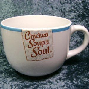 Mug Chicken Soup for the Soul Oversize White Blue